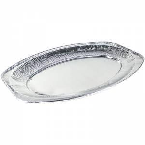 bandeja ovalada de aluminio para degustación de 33x23cm