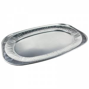 bandeja de aluminio ovalada para degustación de alimentos de 54x36cm