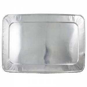 tapadera de aluminio para bandejas rectangulares.