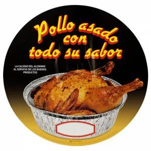 tapadera de cartón para envase de pollo asado