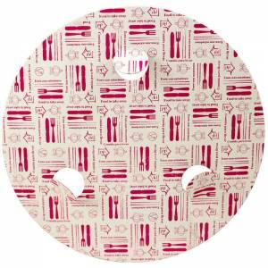 Tapadera Cartón Reciclado Con Agujeros para Pollo Asado Ø20cm Ref:461450