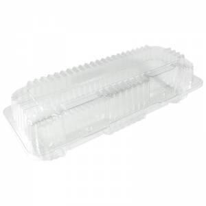 envase transparente de ops con cierre de bisagra para brazo gitano