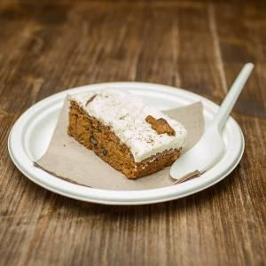 plato pequeño redondo de fibra de caña de azúcar, compostable con alimentos