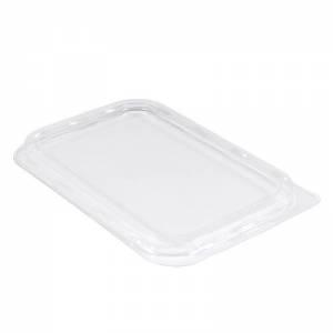 tapadera rectangular de plástico para envase de postre