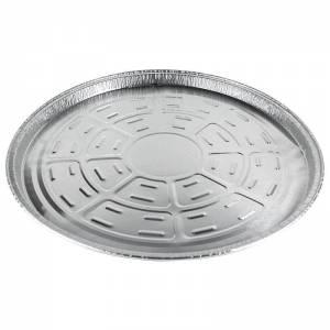 plato de aluminio desechable de 33cm de diámetro para empanada