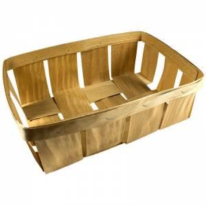 cesta de madera cosida rectangular.