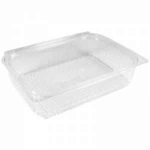 envase de plástico con cierre de bisagra rectangular ideal para loncheados