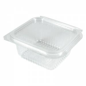 envase transparente de pla compostable con cierre de bisagra de 370cc
