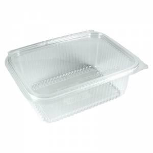 envase transparente de pla vegetal compostable con cierre de bisagra de 1000cc