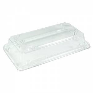 tapadera de pet para bandeja de sushi compostable