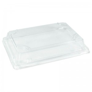 tapadera transparente para bandeja de sushi, material pet
