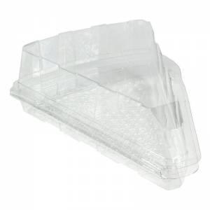 envase de plástico con cierre de bisagra para porciones de tartas