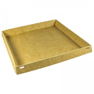 base cuadrada de cartón kraft para pastelería