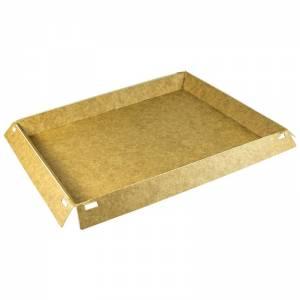 base rectangular de cartón kraft para pastelería