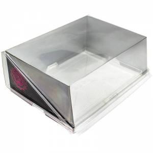 caja con cierre de bisagra y estructura de cartón