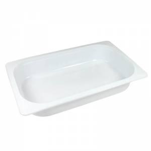 bandeja termosellable 1/4 gastronorm de pp blanco altura 4,5cm