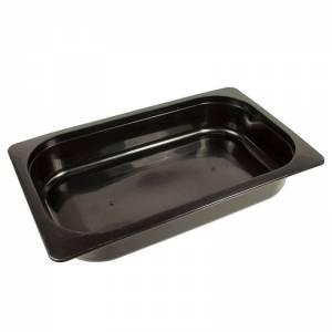bandeja termosellable 1/4 gastronorm de pp negro altura 4,5cm