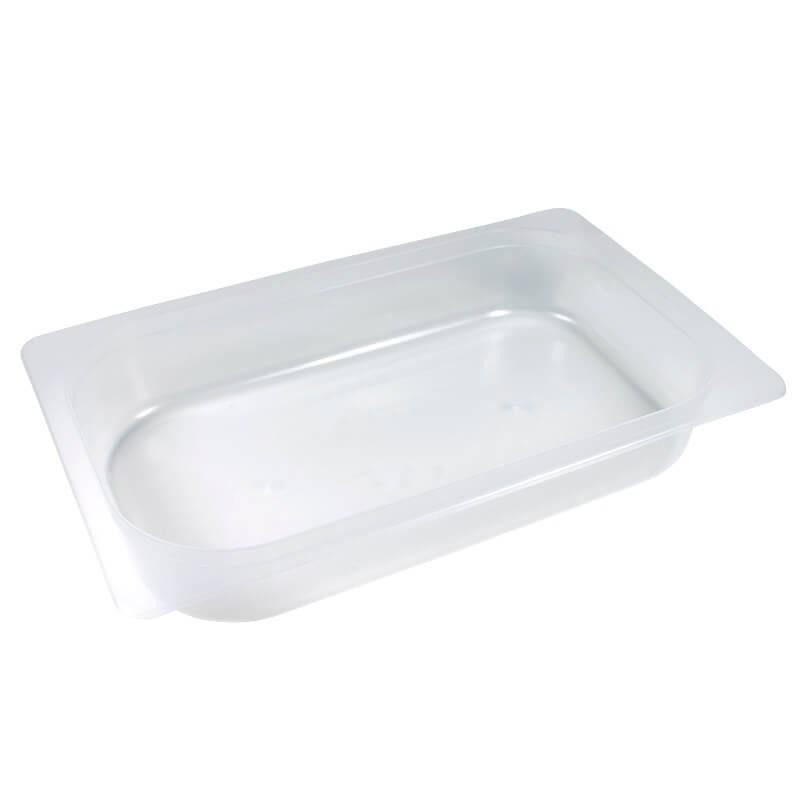 bandeja termosellable 1/4 gastronorm de pp transparente altura 4,5cm