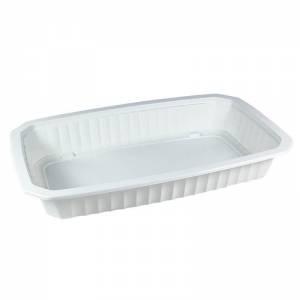bandeja termosellable 1/4 gastronorm de pp blanco altura 4cm