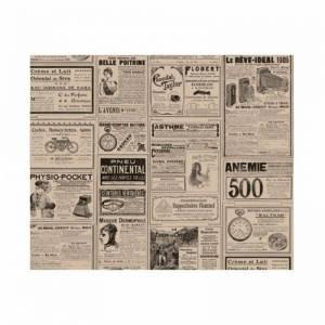 papel antigrasa en color sepia con impresión de periódico para envolver alimentos