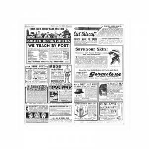 papel antigrasa blanco con impresión de periódico para envolver alimentos de 31x31cm