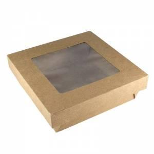ERPAVE22 - 320uds. Caja Cartón Tapa Ventana Independiente 19x17x5cm