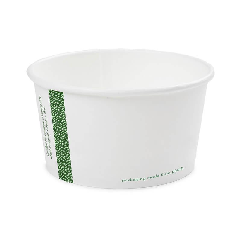 tarrina de celulosa compostable de 340cc de color blanco