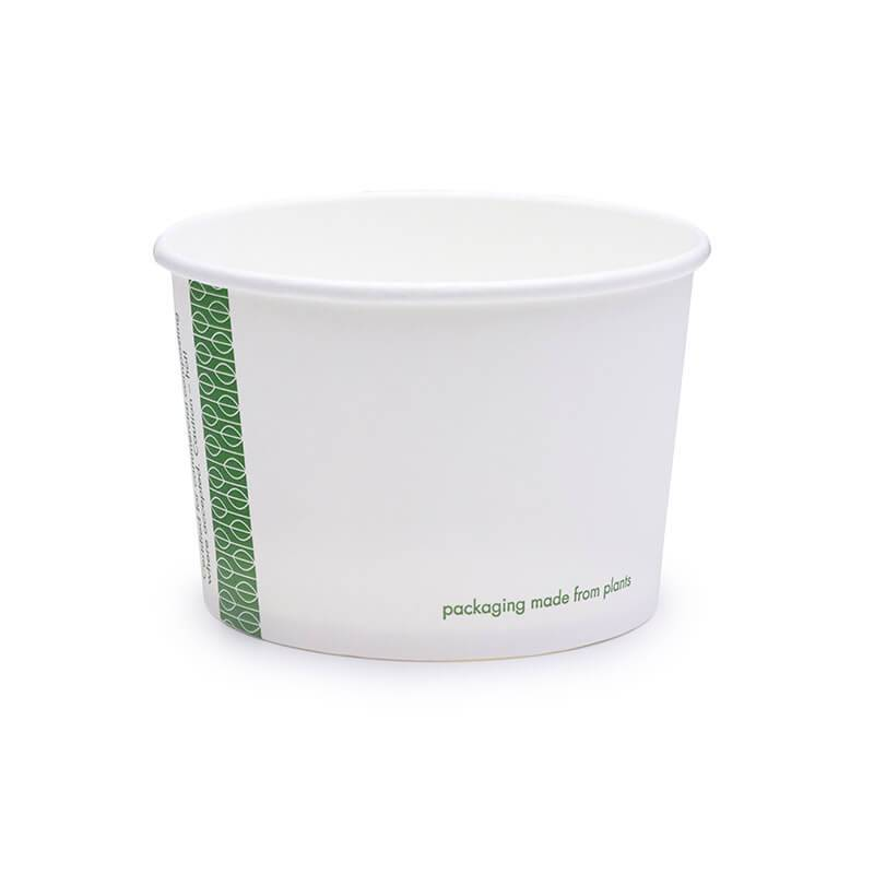 tarrina compostable de celulosa blanca de 227cc