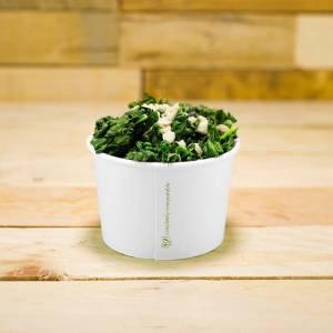 tarrina compostable blanca de papel de 227cc