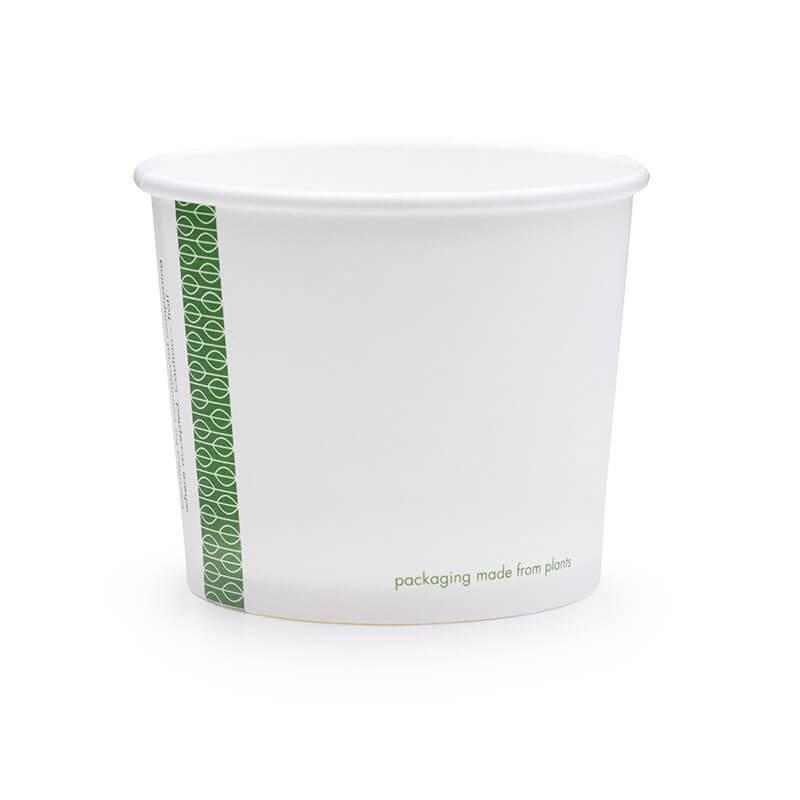 tarrina compostable de celulosa blanca de 284cc