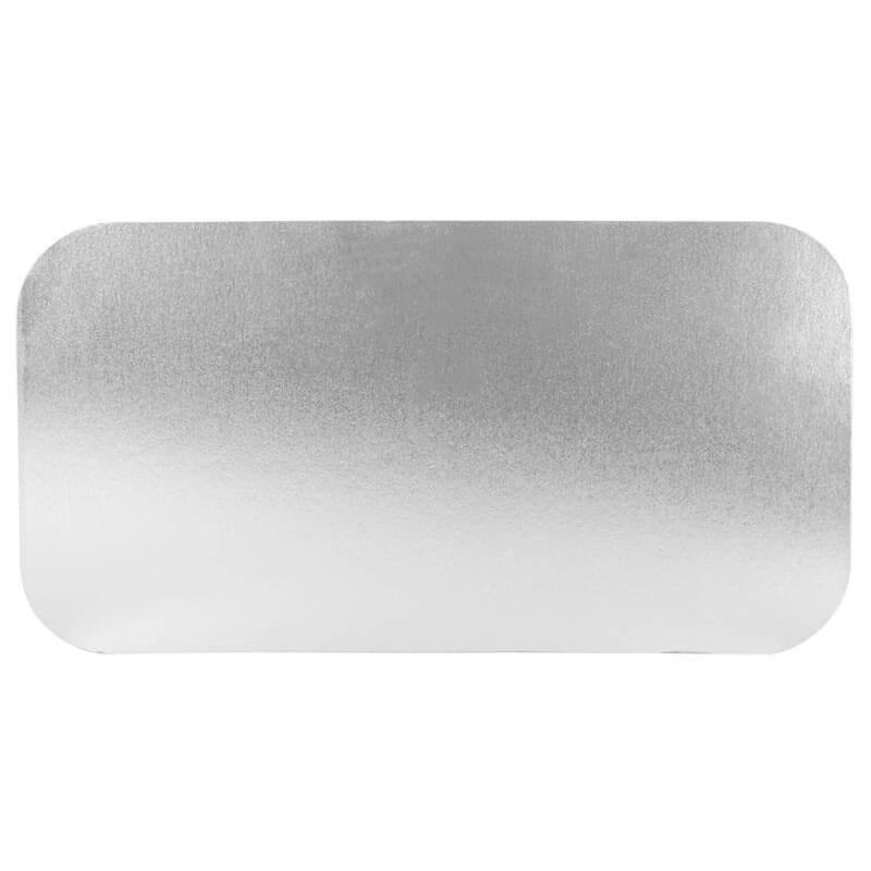 tapadera de cartón laminada en aluminio de 31x17cm