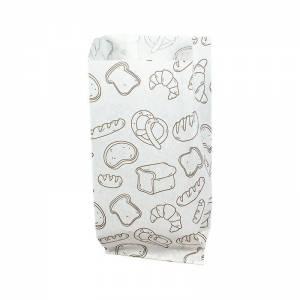 bolsa para bocadillo blanca con impresion de 9+5x22cm
