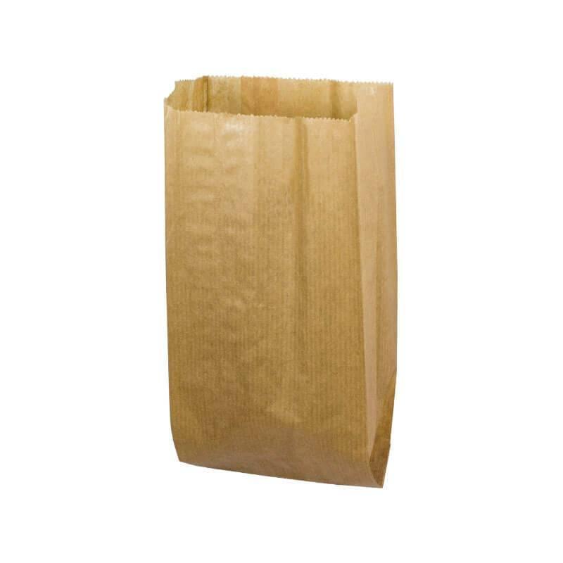 bolsa para bocadillo en papel kraft natural de 9+5x22cm