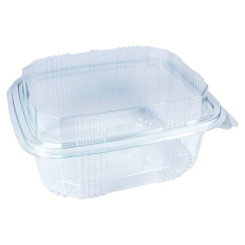 envase de plástico con cierre de bisagra de 2800cc para alimentos fríos