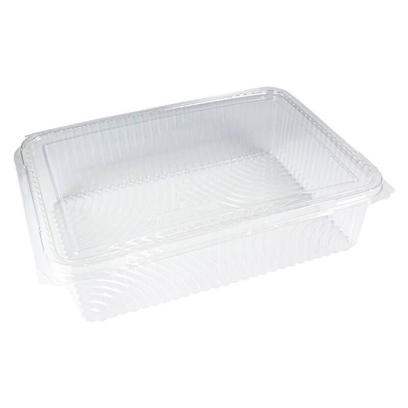 envase de pla compostable con cierre de bisagra para loncheados
