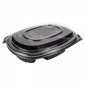 envase y tapadera de tres compartimentos premium. de 1250cc