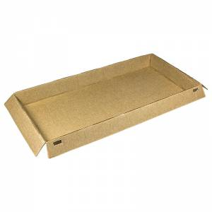 base de cartón kraft horneable para pastelería de 22x10cm