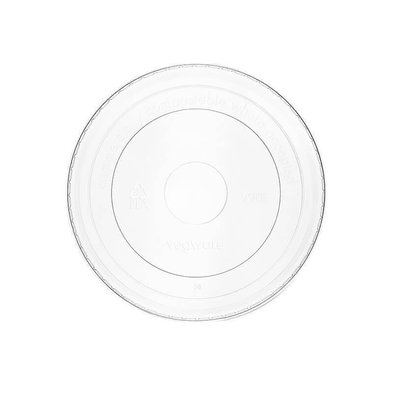 tapadera de pla compostable transparente para tarrinas de papel