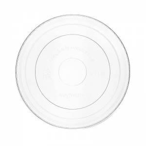 tapadera transparente para uso frío de pla vegetal compostable para tarrinas de papel
