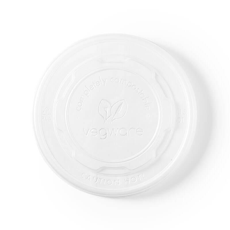 tapadera translucida para uso caliente de pla vegetal compostable para tarrina compostable