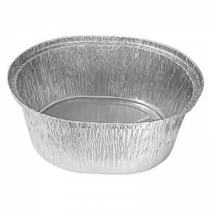 envase ovalado de aluminio para pollos asados 1900cc