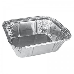 envase de aluminio rectangular para guarniciones de 440cc