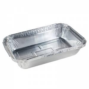envase de aluminio rectangular de 470cc para guarniciones