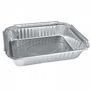 envase de aluminio rectangular para ración individual de 640cc