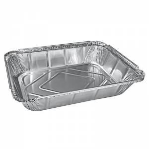 envase de aluminio rectangular para raciones con guarnición