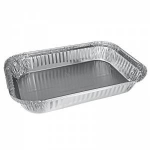 envase de aluminio rectangular para paletillas, cochinillos y asados