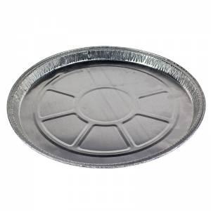 plato de aluminio de 25cm de diámetro para pizza