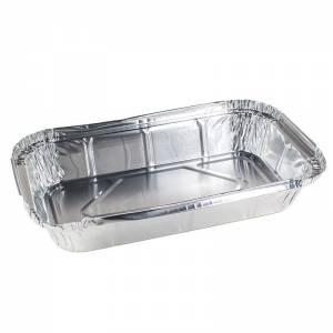 envase de aluminio rectangular para raciones individuales de 650cc