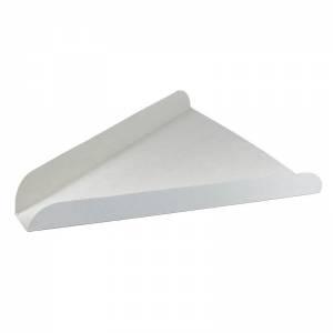 cuña de cartón blanco para porción de pizza