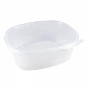 envase de plástico para microondas ovalado de pp de alta resistencia con cierre de seguridad de 1000cc